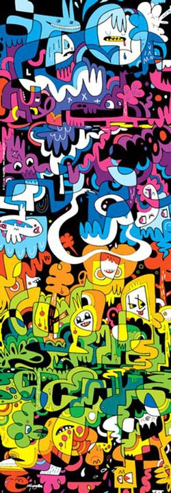 Doodle World Cartoons Panoramic