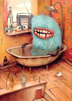 Bathtub (Zozoville) Cartoons Jigsaw Puzzle