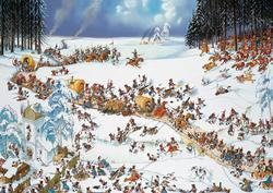 Napoleon's Winter (Loup) Cartoons Jigsaw Puzzle