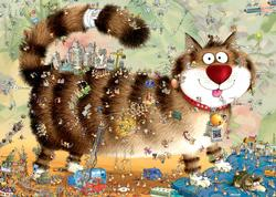 Cat's Life Cartoons Jigsaw Puzzle
