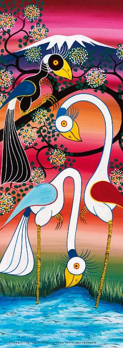 Storks (Tinga Tinga) Cultural Art Jigsaw Puzzle