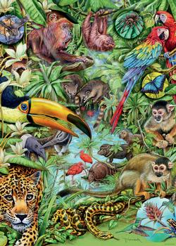 Rainforest Jungle Animals Jigsaw Puzzle