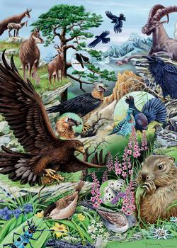 High Mountains (Flora & Fauna) Birds Jigsaw Puzzle