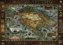 Map of Zamonia Movies / Books / TV Jigsaw Puzzle