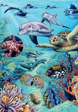 Tropical Waters, Flora & Fauna Marine Life Jigsaw Puzzle