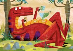Monster Punch, Slack Dinosaurs Jigsaw Puzzle