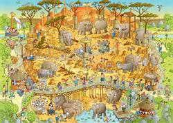 African Habitat (Funky Zoo) Jungle Animals Jigsaw Puzzle
