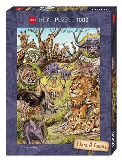 Savannah (Flora & Fauna) Lions Jigsaw Puzzle