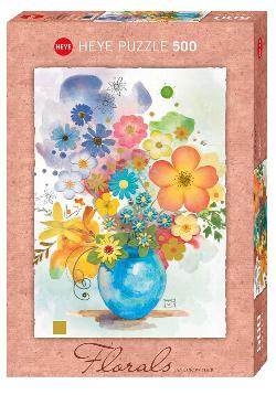 Blue Vase (Florals) Contemporary & Modern Art Jigsaw Puzzle