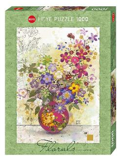 Pink Vase (Florals) Flowers Jigsaw Puzzle