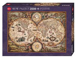 Vintage World Geography Jigsaw Puzzle