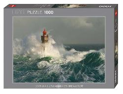 Lighthouse La Jument Seascape / Coastal Living Jigsaw Puzzle