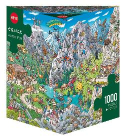 Alpine Fun Landscape Triangular Puzzle Box