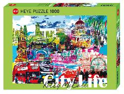 City Life, I Love London! Skyline / Cityscape Jigsaw Puzzle