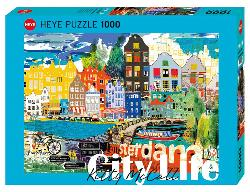 City Life, I Love Amsterdam! Europe Jigsaw Puzzle