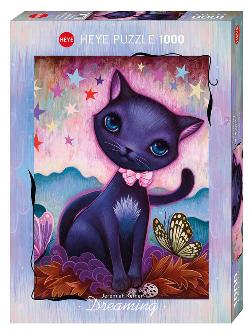 Black Kitty (Dreaming) Butterflies and Insects Jigsaw Puzzle