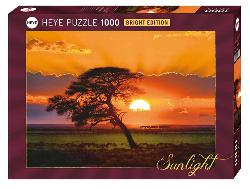Sunny Tree Sunrise/Sunset Jigsaw Puzzle