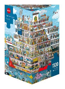 Cruise Cartoons Triangular Puzzle Box