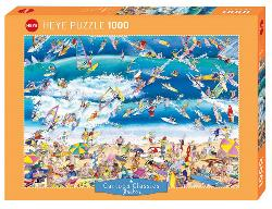 Surfing Seascape / Coastal Living Jigsaw Puzzle