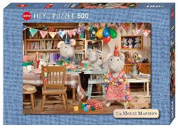 Mouse Mansion, Celebration Domestic Scene Jigsaw Puzzle