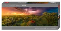 Stormy Horizon Landscape Panoramic Puzzle