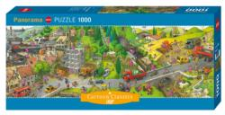Busy Day, Loup Cartoons Panoramic Puzzle
