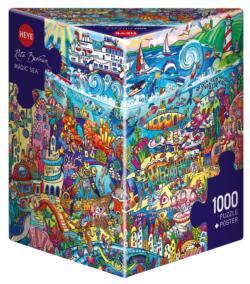 Magic Sea, Berman Mermaids Triangular Puzzle Box