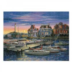 Harbor at Sunset Seascape / Coastal Living Jigsaw Puzzle