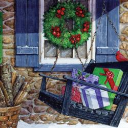 Holiday Greetings Christmas Jigsaw Puzzle