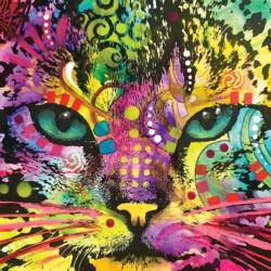Cat Closeup Graphics / Illustration Jigsaw Puzzle