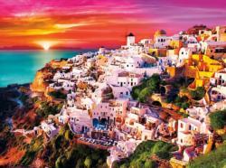 Dreamy Santorini Greece Jigsaw Puzzle