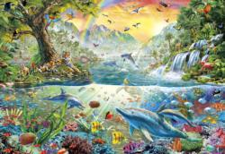 Tropical Harmony Waterfalls Jigsaw Puzzle