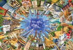 World Landmarks 360 Monuments / Landmarks Jigsaw Puzzle