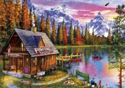 The Fishing Hut Sunrise / Sunset Large Piece