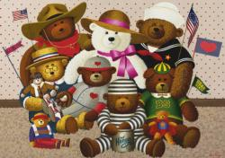 Teddy Friends Nostalgic / Retro Large Piece