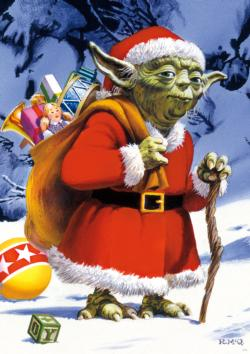 Holiday Yoda Star Wars Large Piece