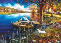 A Day on the Dock Lakes / Rivers / Streams Jigsaw Puzzle