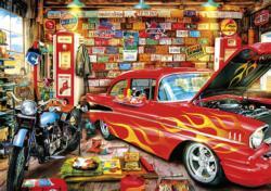 Retro Garage Vehicles Jigsaw Puzzle