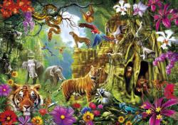 Jungle Discovery Collage Jigsaw Puzzle