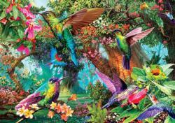 Hummingbird Garden Frog Jigsaw Puzzle