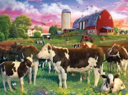 Cavorting Cows Farm Animals Jigsaw Puzzle