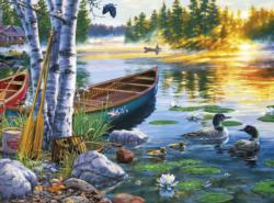Lakeside Morning Sunrise / Sunset Jigsaw Puzzle