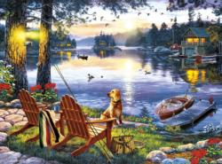 Twillight's Calm Cottage / Cabin Jigsaw Puzzle