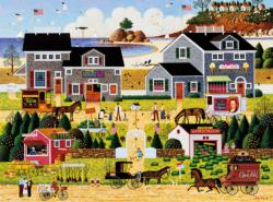 Wescott's Black Cherry Harbor Main Street / Small Town Jigsaw Puzzle