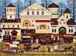 Victorian Street Small Town Jigsaw Puzzle