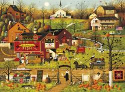 Blackbirds Roost at Mill Creek Americana & Folk Art Jigsaw Puzzle