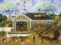 Dahlia Makes a Dory Deal Americana & Folk Art Jigsaw Puzzle