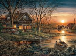 Shoreline Neighbors Lakes / Rivers / Streams Jigsaw Puzzle