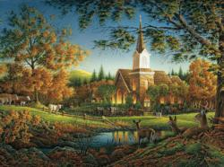 Sunday Morning Churches Jigsaw Puzzle