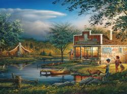Summertime Fishing Jigsaw Puzzle